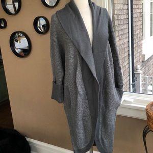 Oversized sweater coat